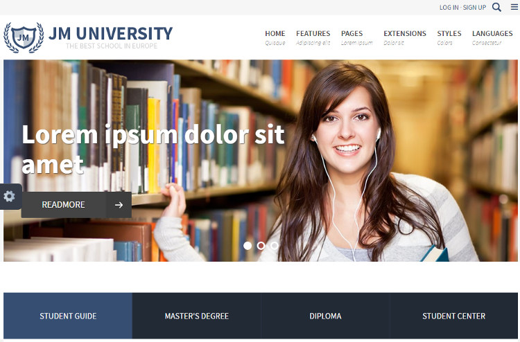 JM University Joomla Template
