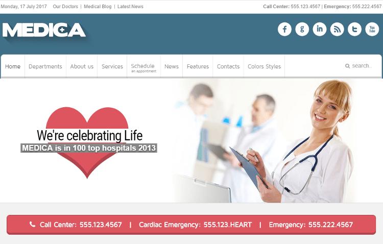Medica Joomla Template