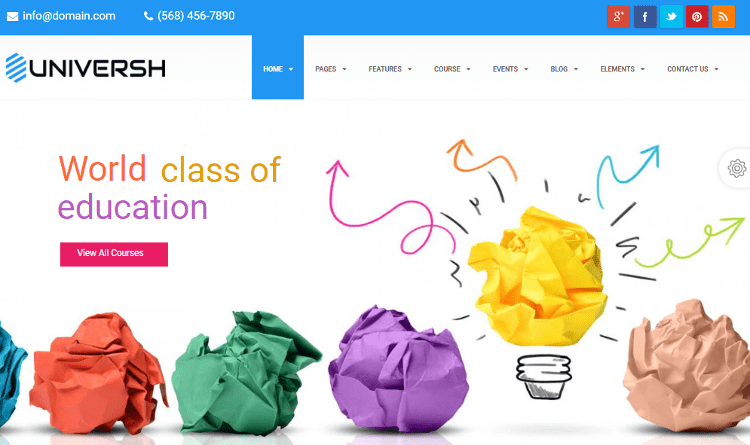 Universh Kids School Drupal Theme