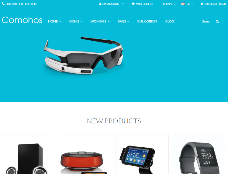 Comohos Electronics Store OpenCart Theme