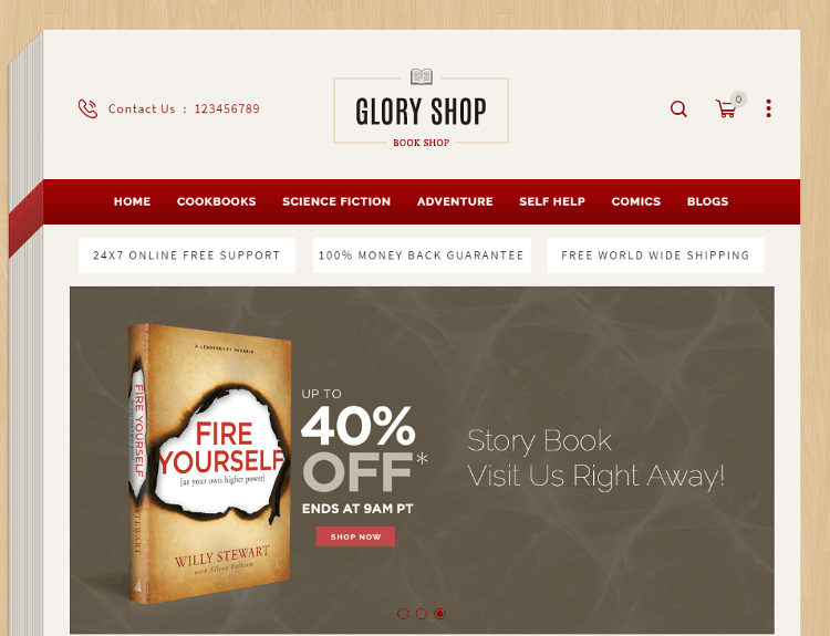 Glory Shop OpenCart Theme