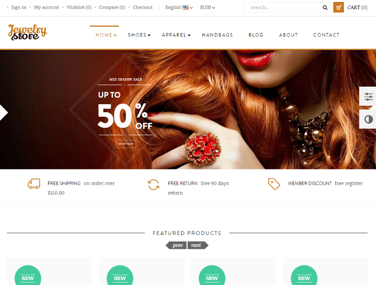 Leo Jewelry Store PrestaShop Theme