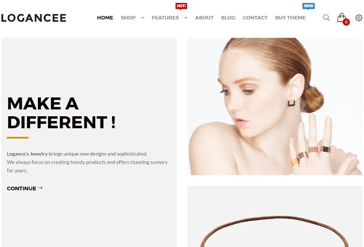 Logancee Jewelry OpenCart Theme