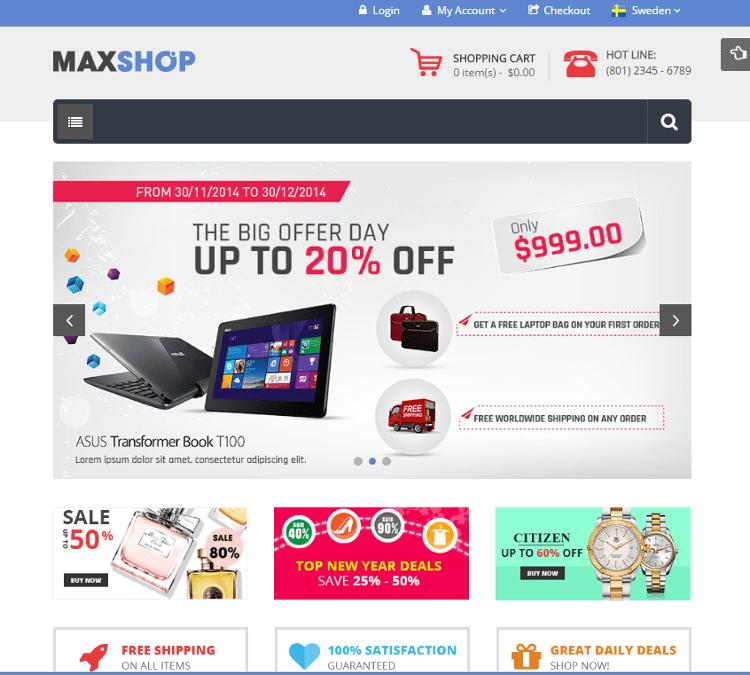 Maxshop Magento Theme