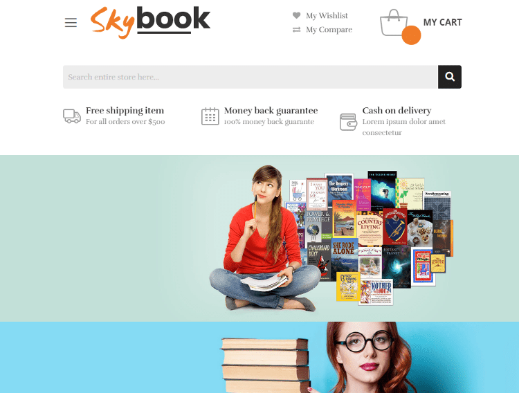 SkyBook Magento Theme