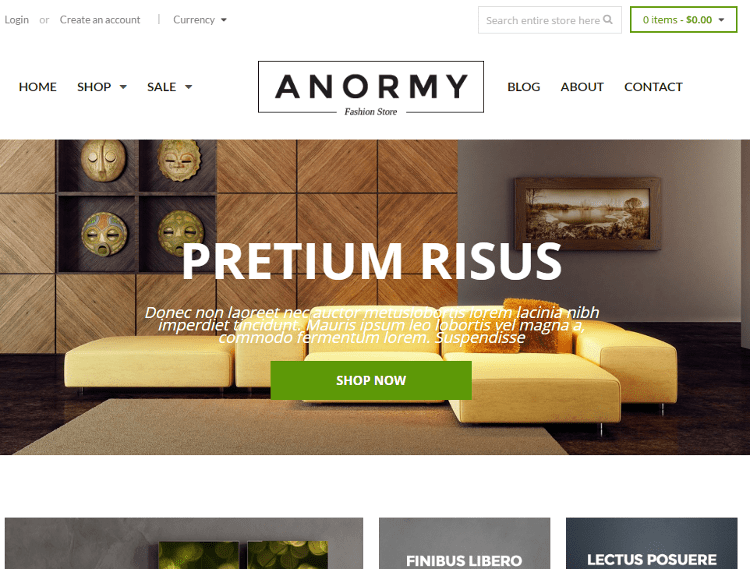 Anormy Furniture Store Shopify Theme