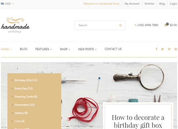 Top 4 Vintage Store, Art Work, Craft, Creative Shopify Themes