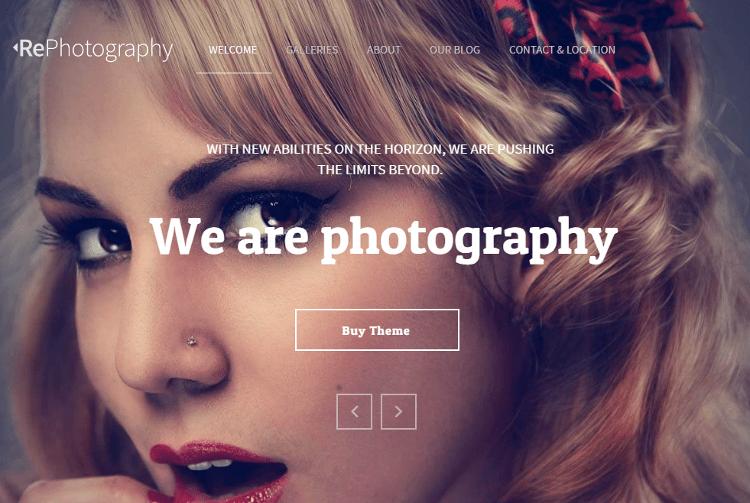 RePhoto Adobe Muse Template
