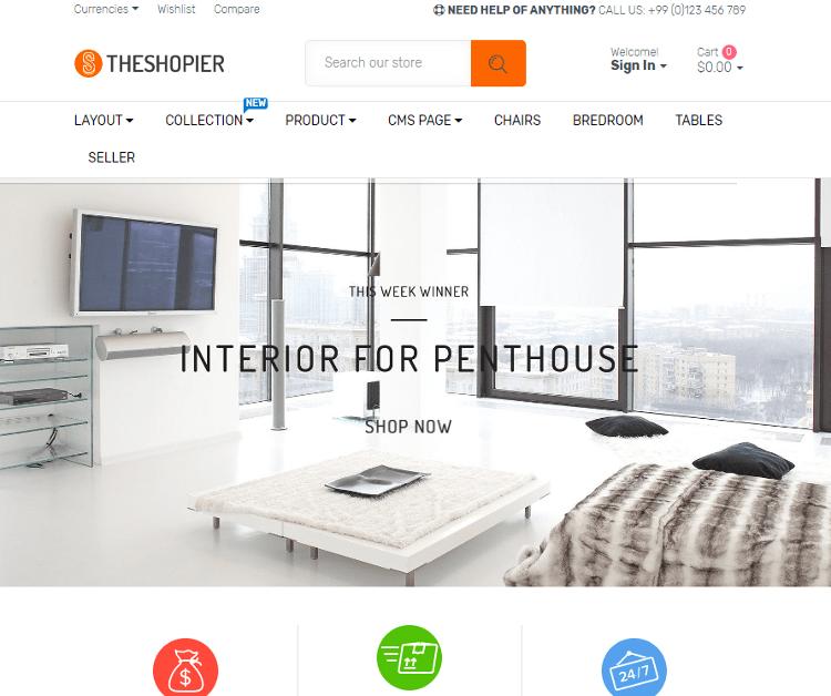 SHOPIER Furniture Store Shopify Theme