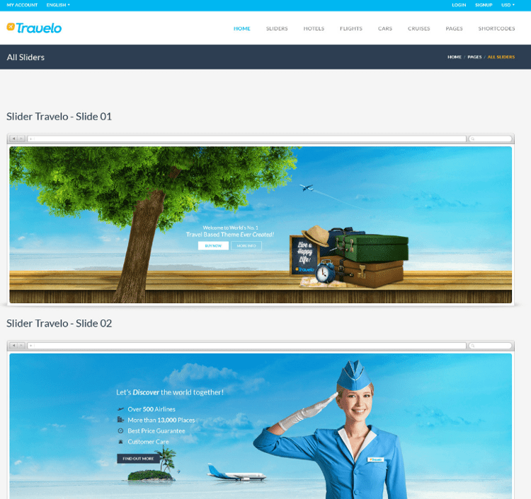 Travelo PSD Template