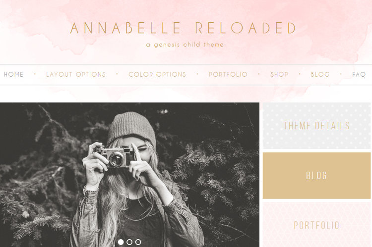 Annabelle Reloaded WordPress Genesis Child Theme