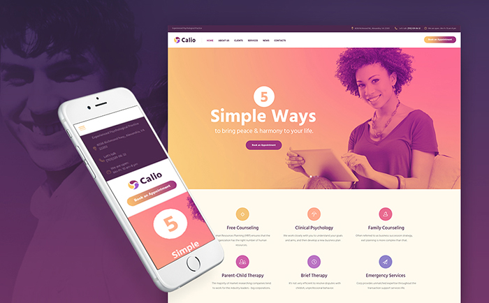 Callo: Therapy and Counselling Free WordPress Template