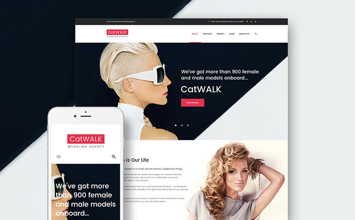 Dazzling Models Model AgencyFashion Free WordPress Site Theme
