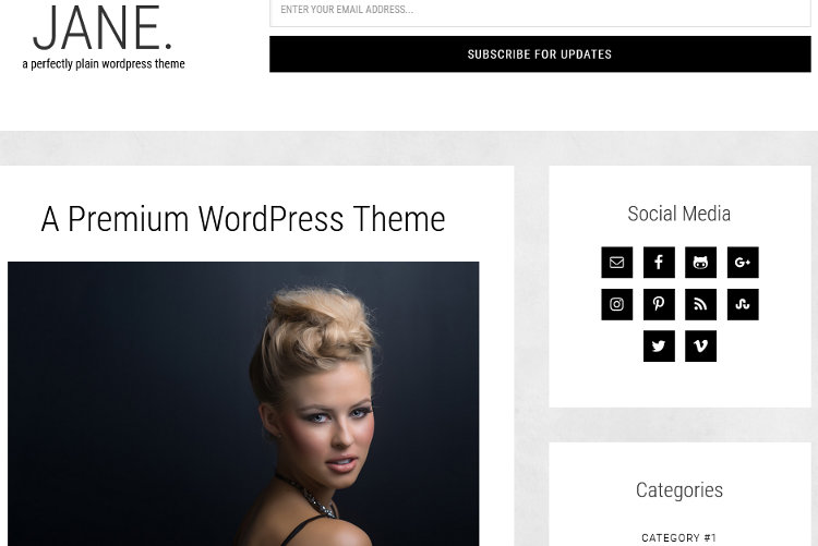 Jane WordPress Genesis Child Theme