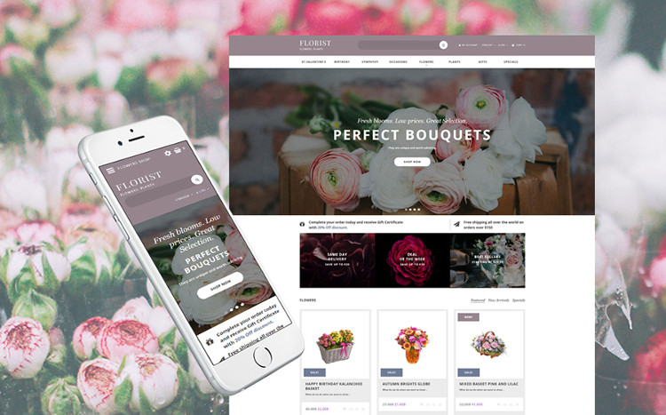Florist - Astonishing OpenCart Theme
