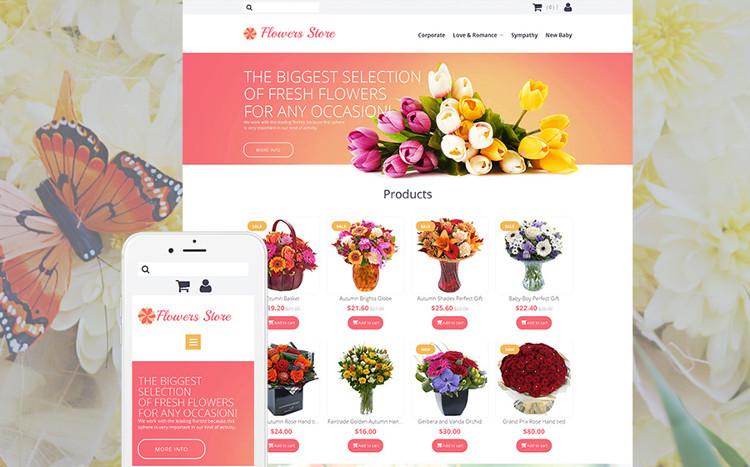 Flowers Store - Marvelous MotoCMS eCommerce Theme