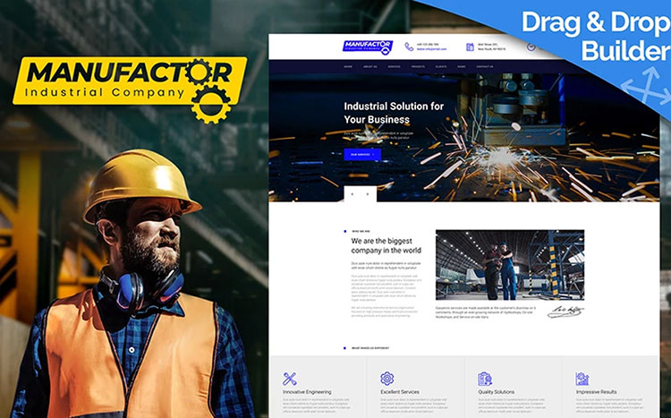 ManuFactor Complete Template For Manufacturer Website