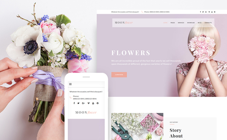 Moon Flower - Modern WordPress Theme
