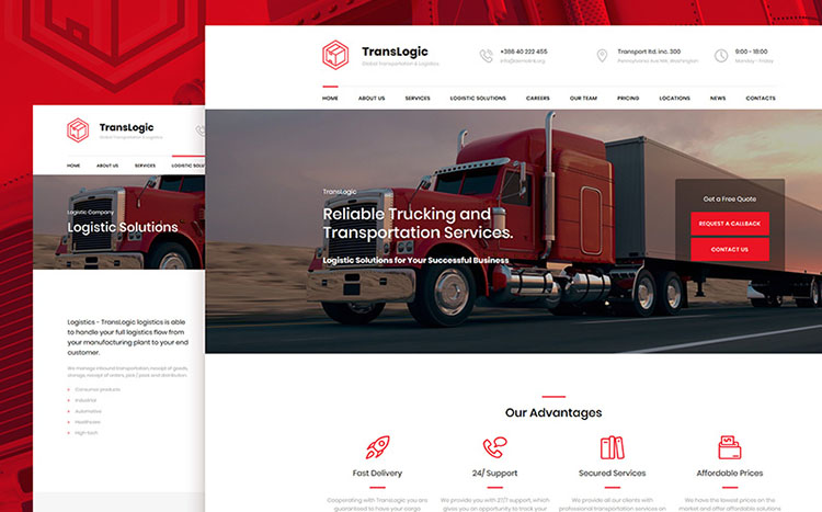TransLogic -Transportation and Logistics Company Template