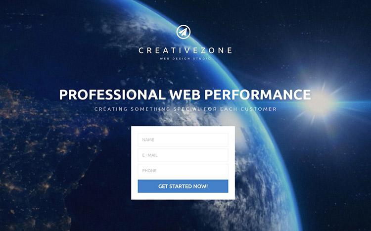 CreativeZoneLanding Page Template