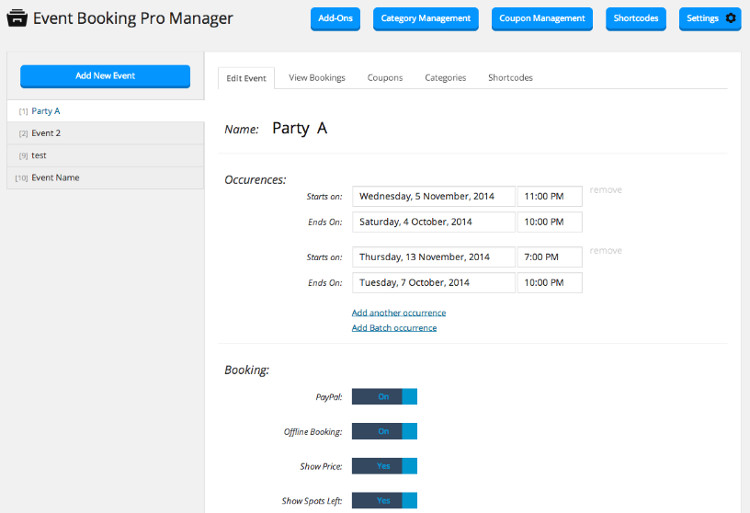 Event Booking Pro WordPress Plugin