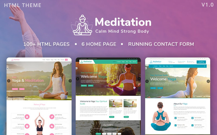 Meditation - Yoga & Fitness Bootstrap Website Template