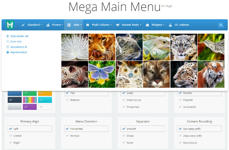 Mega Main Menu WordPress Plugin