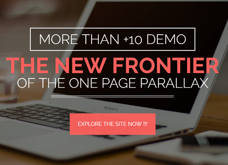 One Page Parallax Builder WordPress Plugin