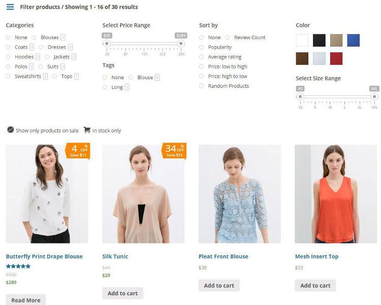 Advanced Ajax Product Filter WooCommerce WordPress Plugin