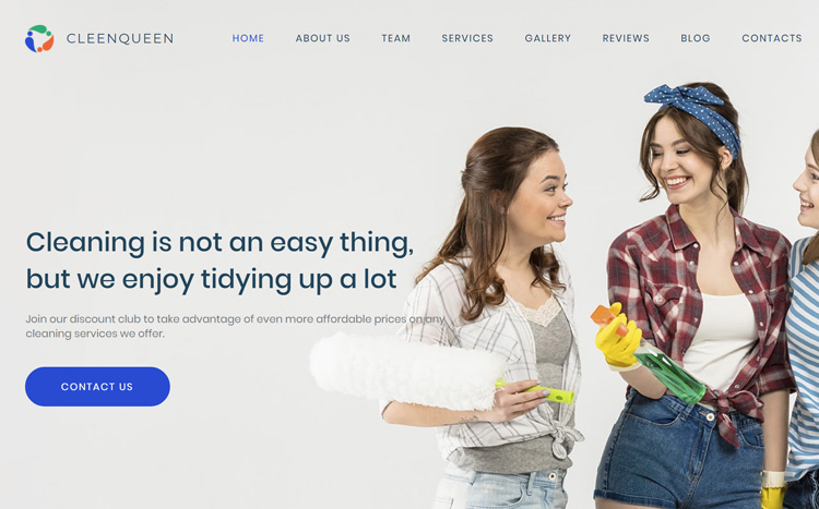 CleenQueen Cleaning Company Website Template