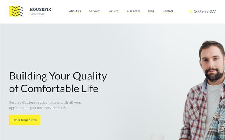 HouseFix Home Renovation Website Template
