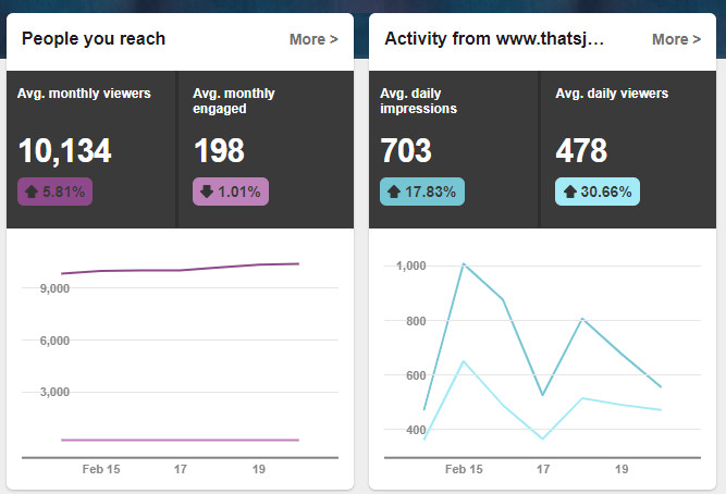People you reach and website activity analytics in Pinterest