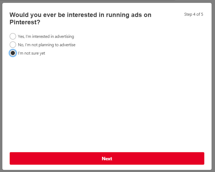 Would you ever be interested in running ads on Pinterest