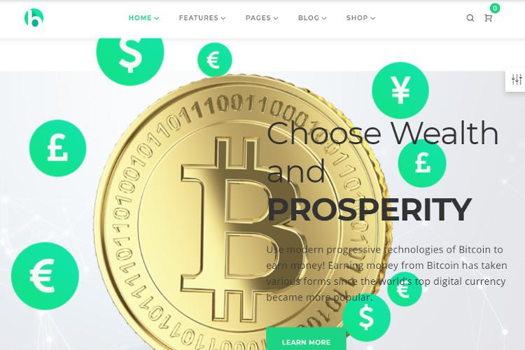 Bryte Bitcoin WordPress Theme