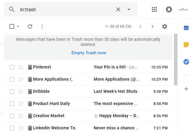 Empty Trash now in Gmail