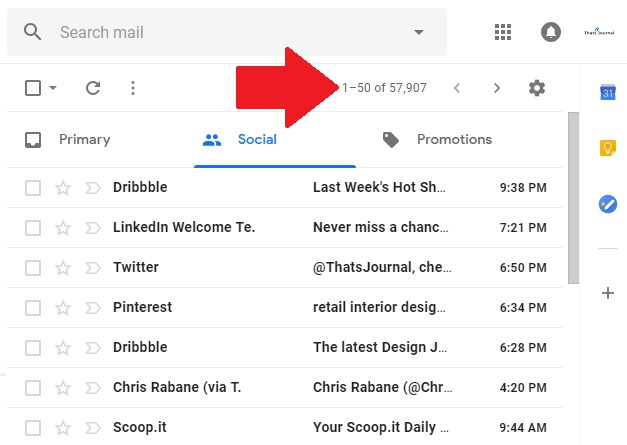 Many unread emails in tabs in Gmail