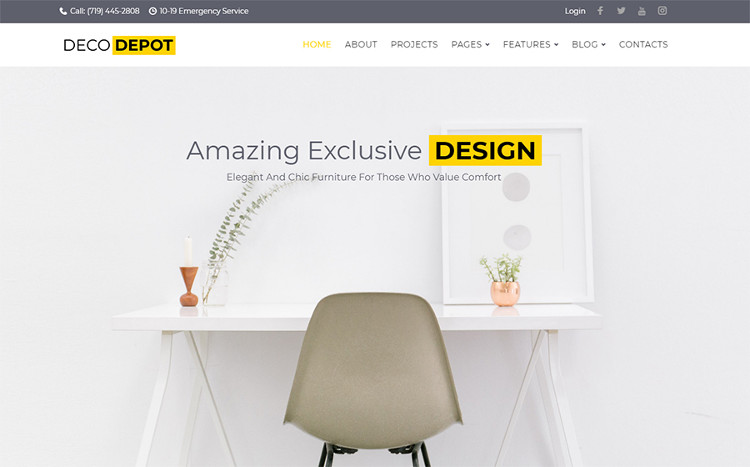 Deco Depot - Furniture Company WordPress Theme
