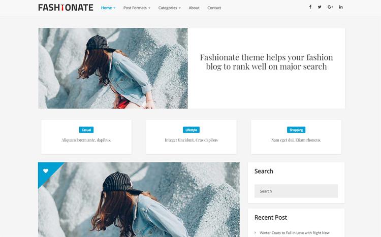 Fashionate WordPress Theme