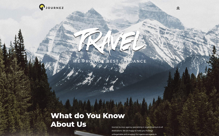Journez - Travel Elementor WordPress Theme