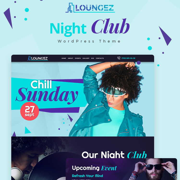 Loungez - Night Club Elementor WordPress Theme