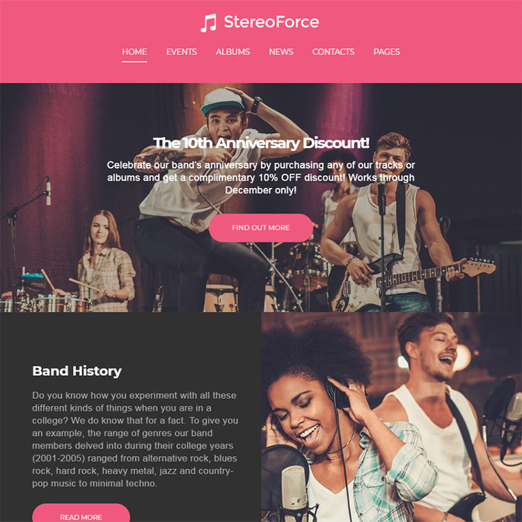 Musicians WordPress Theme