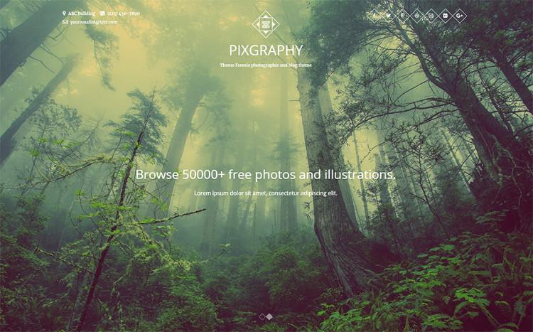 Pixgraphy Elementor WordPress Theme
