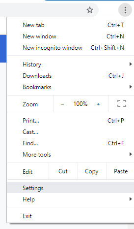 Three dot Customize and control Google Chrome round button