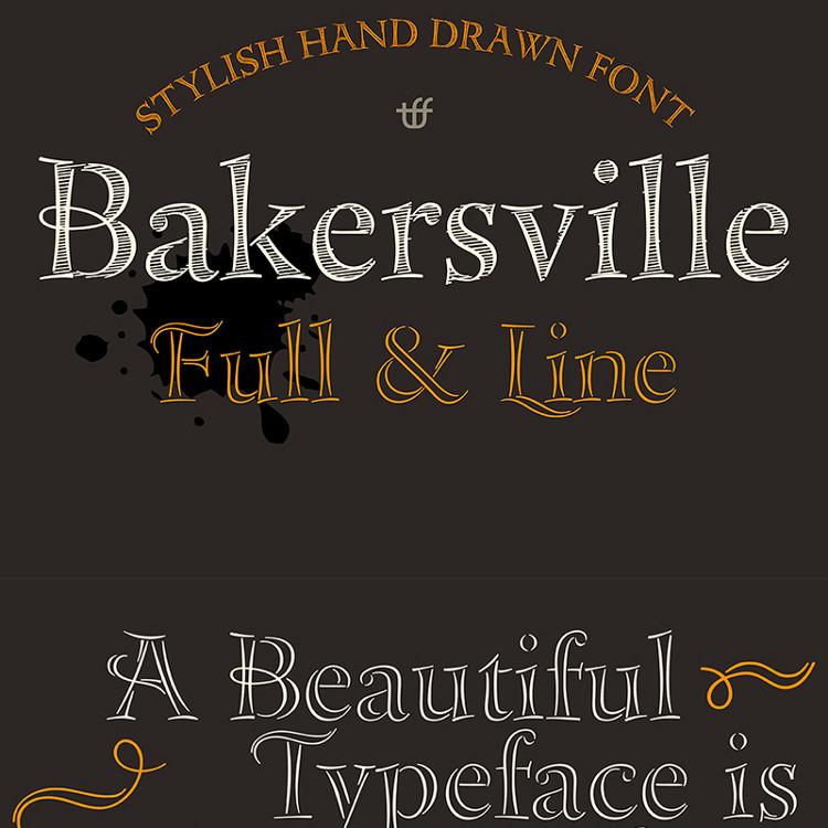 Bakersville Sketch Fonts