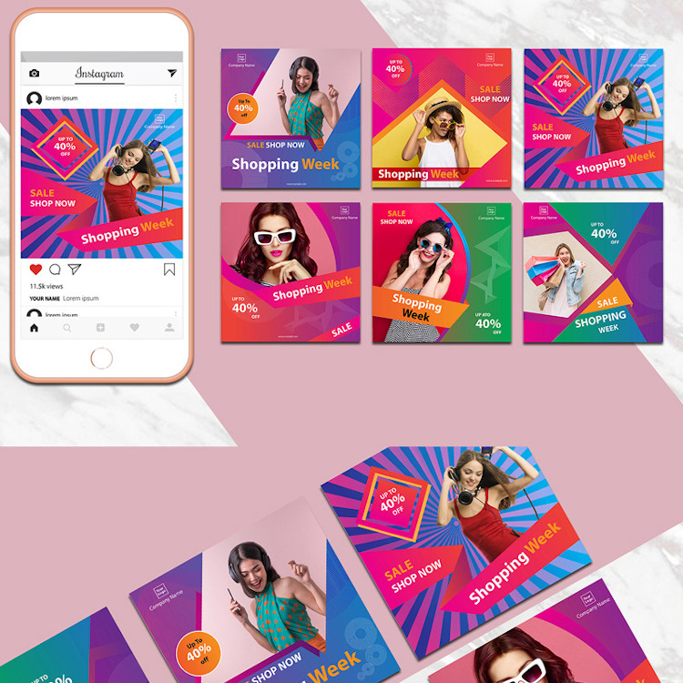 Colorful Instagram Banner Pack