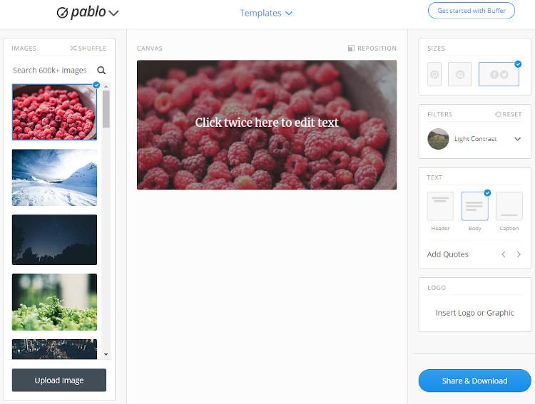 Design images in Pablo