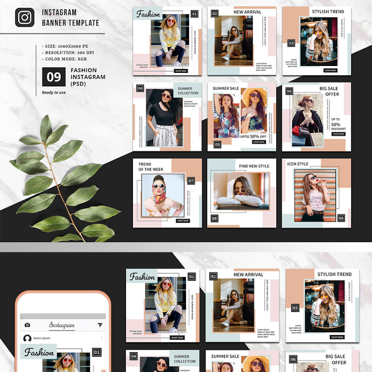 Fashion Promotional Instagram Template