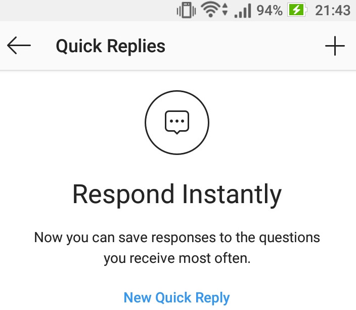 How to create and use Quick Replies in Instagram