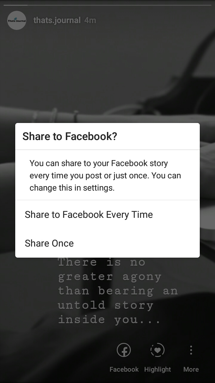 How to share Instagram story to Facebook story