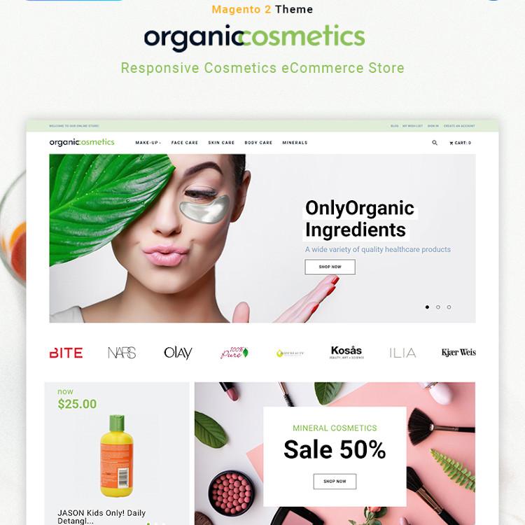 OrganicCosmetics - Cosmetics Magento Theme